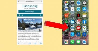 Legg inn Fritidsbolig.net som ikon på mobilen