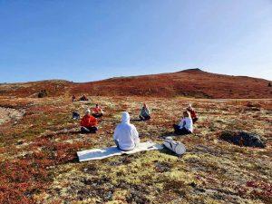 Yoga på fjellet med Solbakken yoga